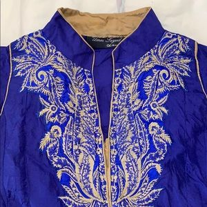 South Asian 3 piece casual silk outfit
